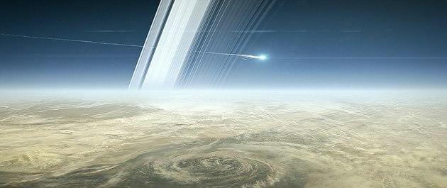 Cassini se desintegrando