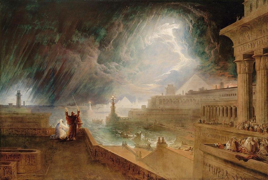 Pintura A Sétima Praga por John Martin (1823).