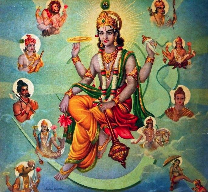 Os avatares de Vishnu