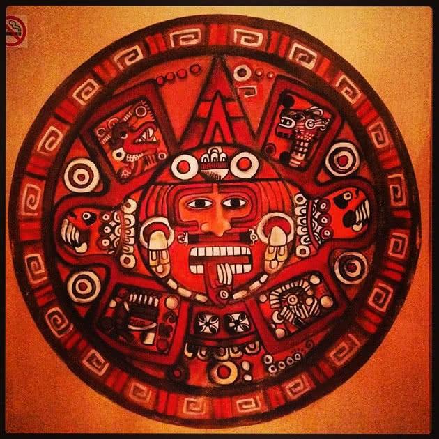 Mandala calendário maia