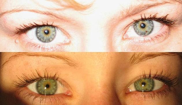 Iluminação nos olhos