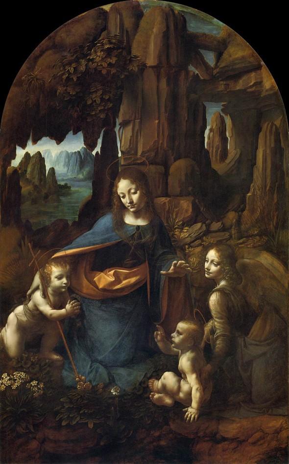 A Virgem dos Rochedos, Leonardo da Vinci. Fonte: Blog Paper Blanks