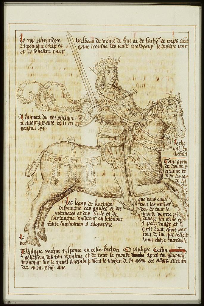 Alexandre e o cavalo Bucéfalo