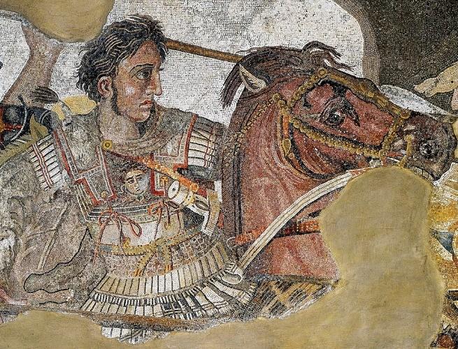 Mosaico de Alexandre, O Grande, em batalhas