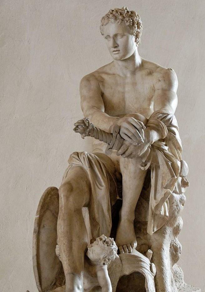Estátua de Ares, com seus símbolos de guerra (fotografada por Marie-Lan Nguyen)