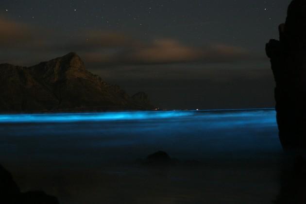 nuvens fluorescentes
