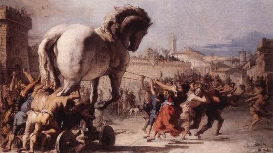 Resultado de imagem para cavalo de troia