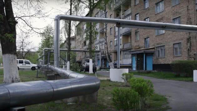 Tubulação de água em Chernobyl