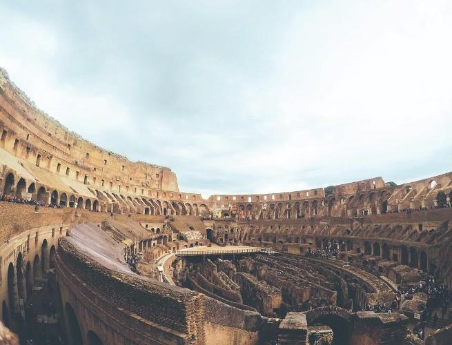 As arquibancadas do Coliseu (atualmente)