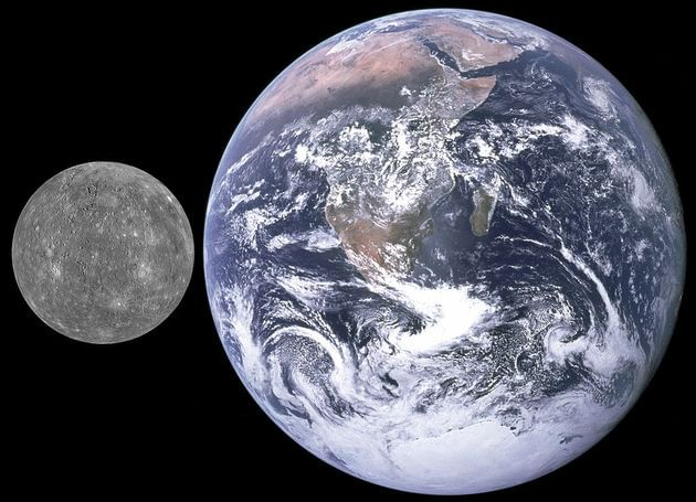Comparação Terra e Mercúrio