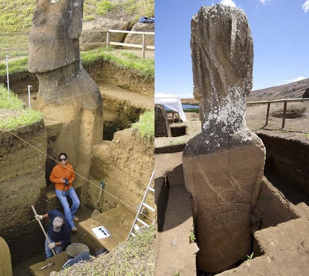 Escavação das estátuas