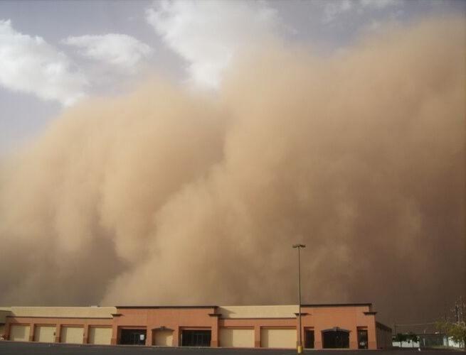 Imagem de uma tempestade de areia