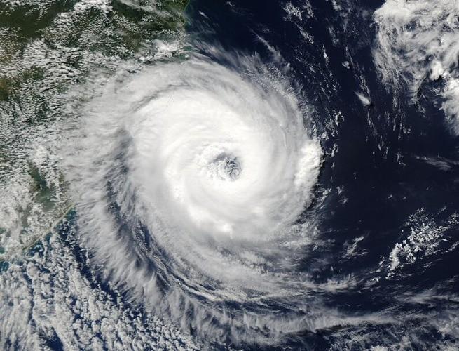 Imagem por satélite do ciclone Catarina