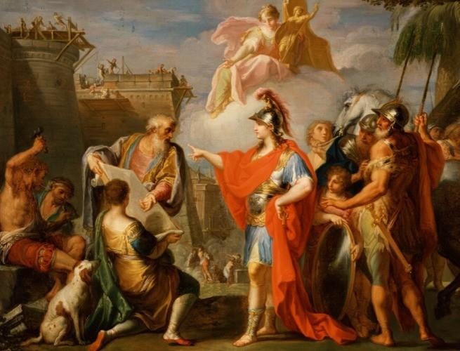 Alexandria sendo fundada