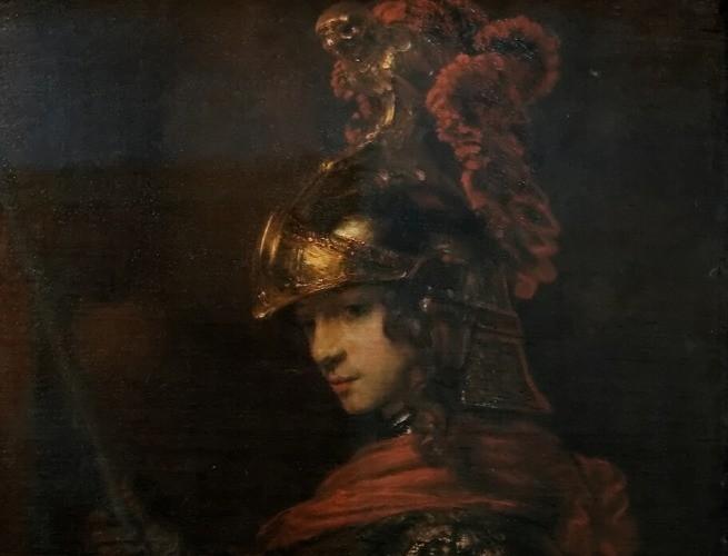 Pintura de Atena por Rembrandt