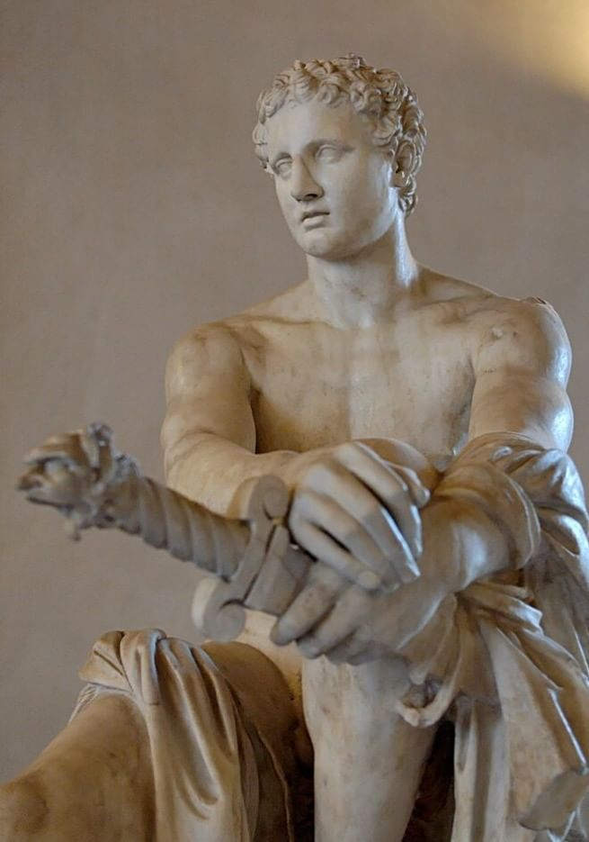 Ares sempre retratado como um guerreiro forte