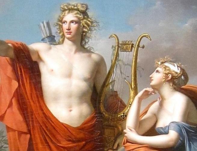 Pintura de Apolo e a musa Urânia