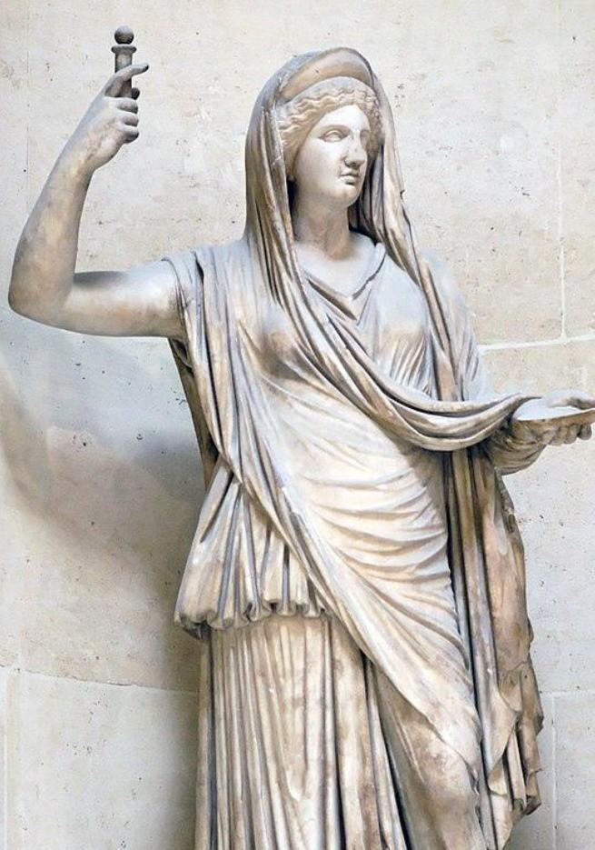 Estátua de Hera de pé