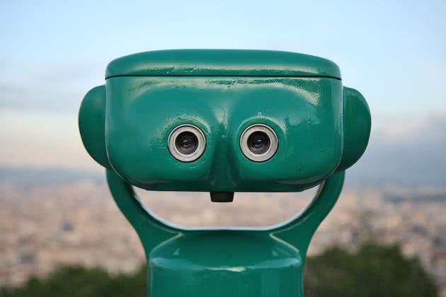 binóculo feliz