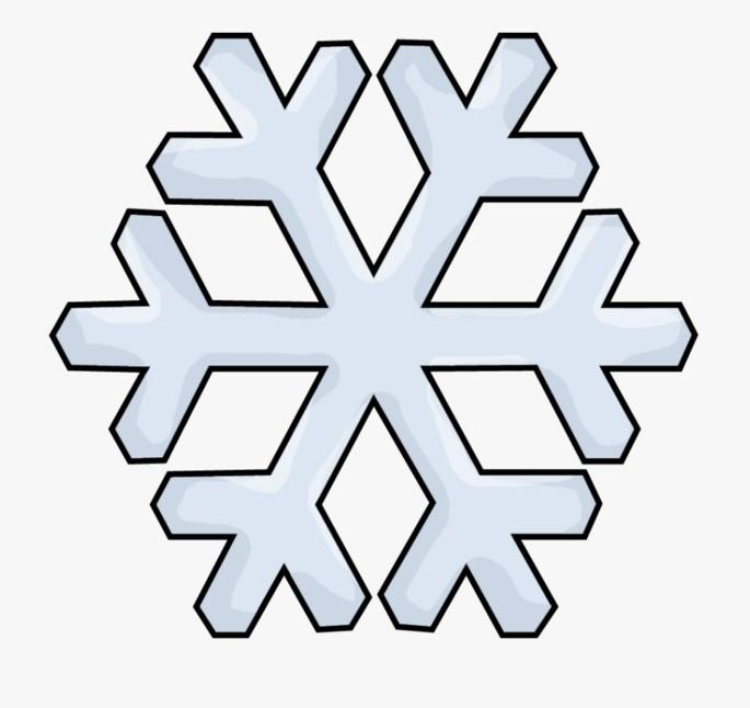 Molde floco de neve para download