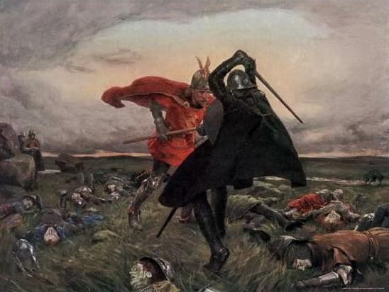 rei Arthur e Sir Modred