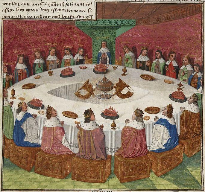 rei Arthur cavaleiros da távola redonda santo graal