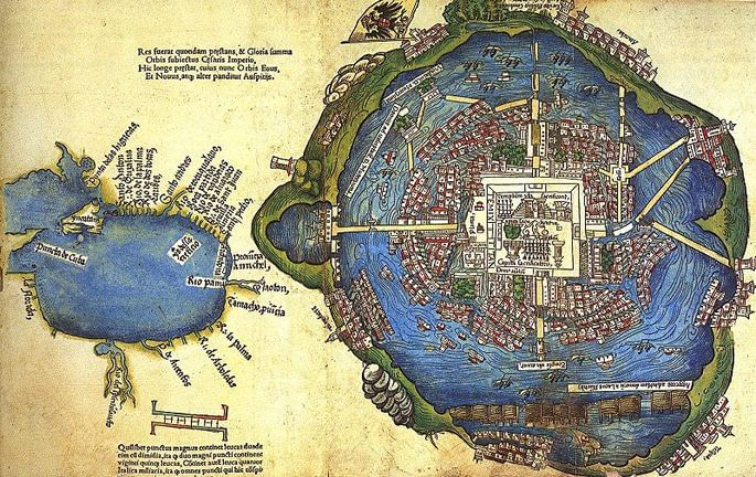 mapa capital asteca