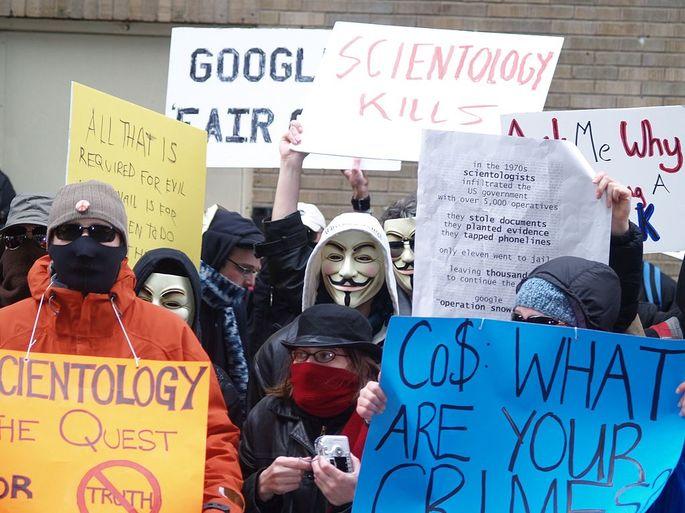 Cientologia protesto