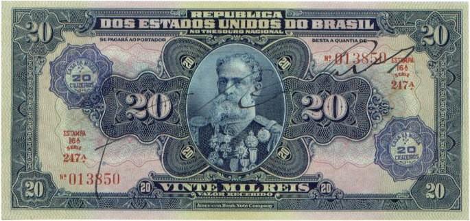 200 mil réis moeda do brasil