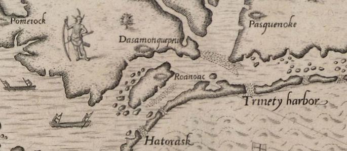 Roanoke mapa