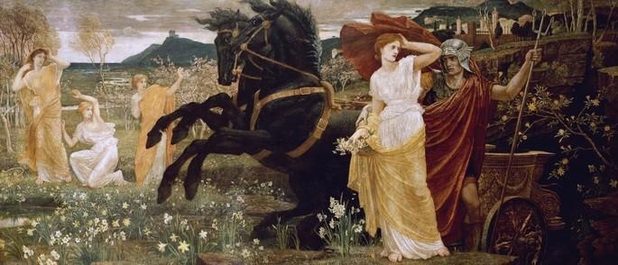 Pintura 'O Destino de Perséfones' de Walter Crane (1887).