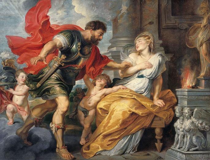 Pintura 'Marte e Réia Silvia' de Peter Paul Rubens (1617 - 1620).