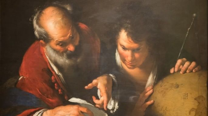 Pintura do matemático Eratóstenes