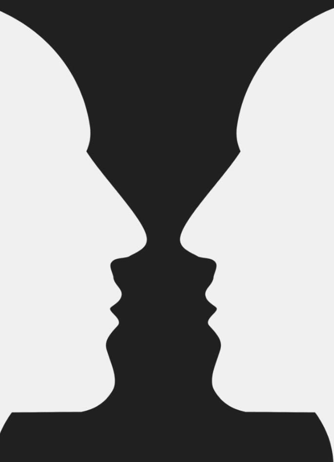Rubin's vase de Edgar Rubin