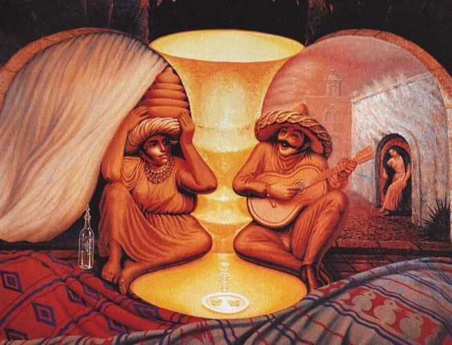 Old couple or musician by Salvador Dalí