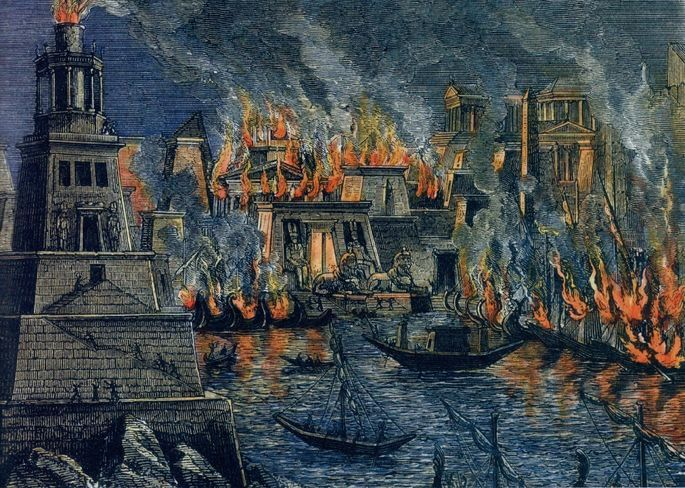 Incêndio na Biblioteca de Alexandria