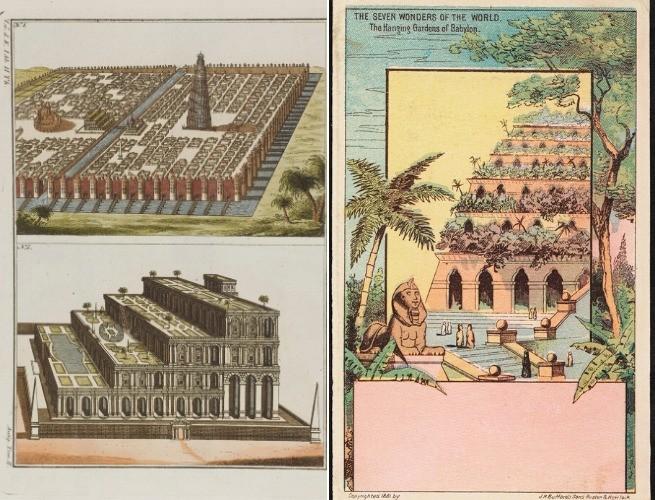 Desenhos dos Jardins Suspensos da Babilônia