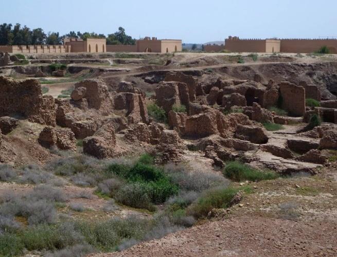 Algumas das ruínas da cidade Babilônia