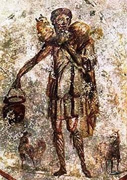 O Bom Pastor' encontra-se nas catacumbas de São Calixto em Roma