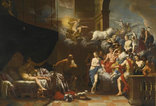 Hefesto encontra Marte e Venus