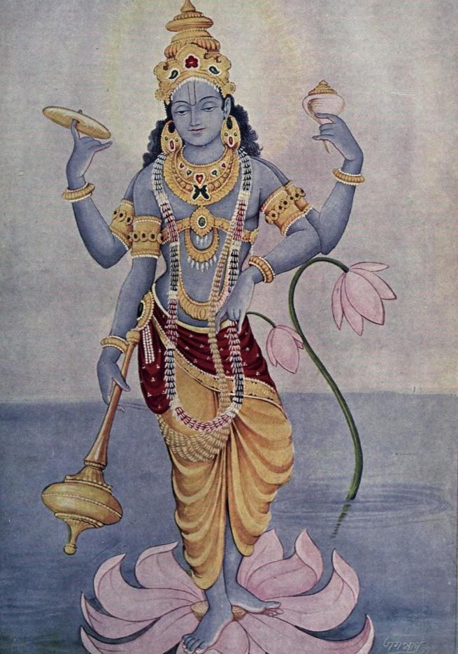 Pintura de Kishnu (© Ramanarayanadatta astri/Wikimedia Commons)