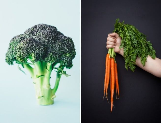 Verdura (verde) X Legume (colorido)
