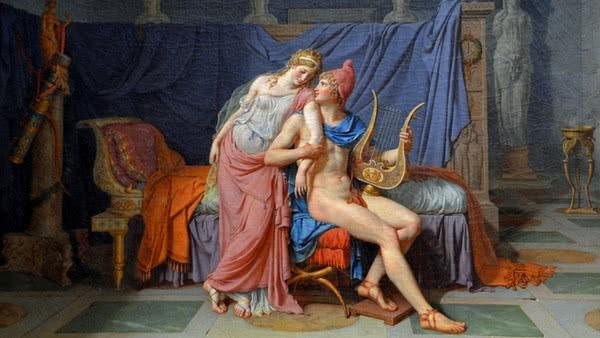 O Amor de Páris e Helena de Troia, David (1788)