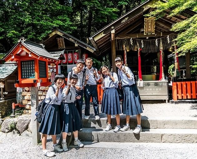 Crianças japonesas