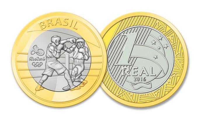 moeda Olimpíadas Boxe