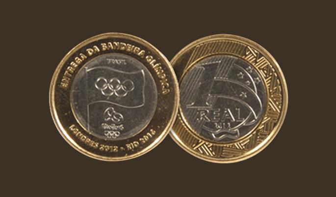 moeda entrega da bandeira