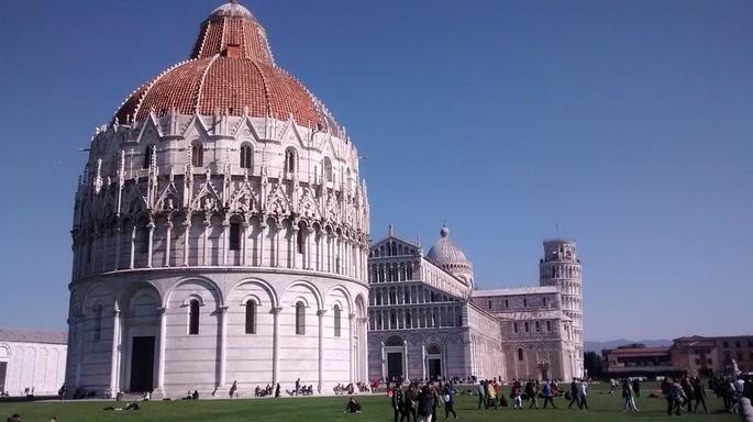 Torre de Pisa Batistério Catedral de Pisa