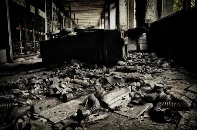 Edifício abandonado em Pripyat