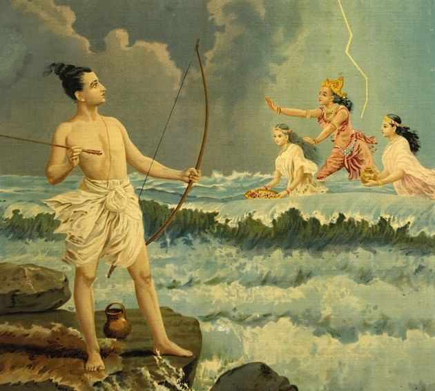 Rama conquista Varuna