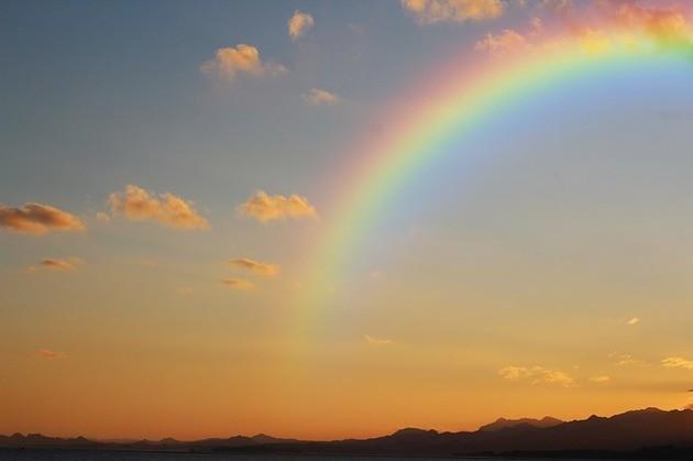 Arco-iris por do sol